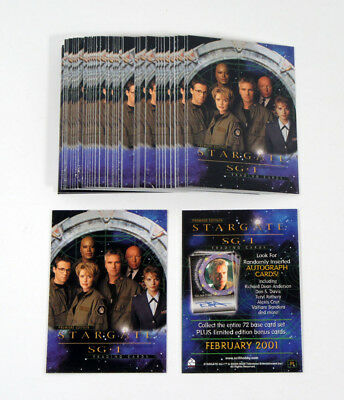 Lot of (50) 2001 Rittenhouse Stargate SG-1 Premiere Edition Promo Card (P1)