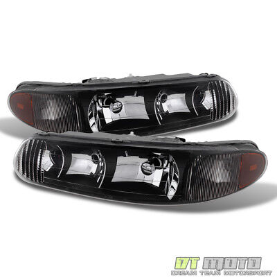 Blk 1997-2005 Buick Century 97-04 Regal LS/GS Replacement Headlights Left+Right
