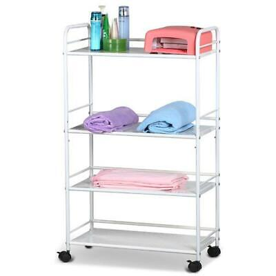 4 Tiers Large Salon Beauty Shelf Trolley Cart Spa Storage Dentist Wax Treatments