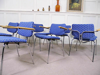 Stylish Vintage Retro Mid cent Danish DCM dining armchairs DUBA design 70s 80s