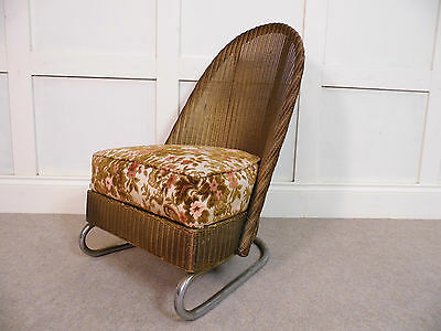 Stylish Vintage Retro Bauhaus Lloyd Loom Lusty 1934 model weaved chair 30s 40s