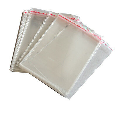 100 x New Resealable Clear Plastic Storage Sleeves For Regular CD Cases SK