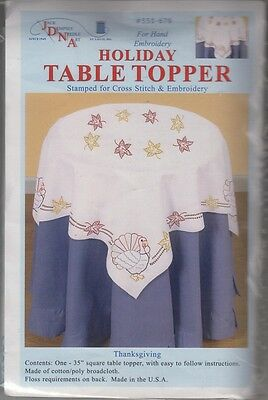 "1  Jack Dempsey ""Thanksgiving"" Stamped Holiday Embroidery/xstitch Table Topper"