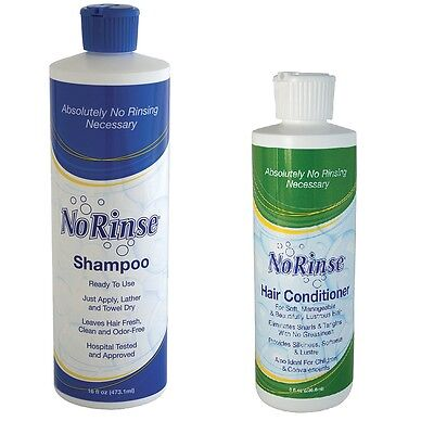 NEW No Rinse Hair Shampoo and Conditioner Set - Perfect Products For Care Givers
