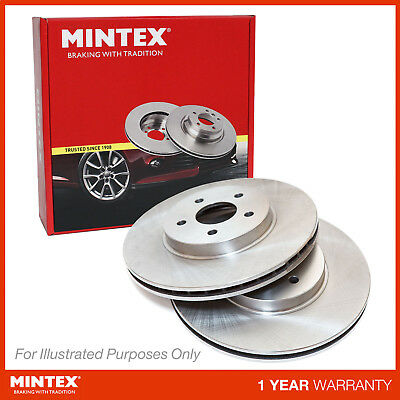 New Fits BMW 5 Series E60 525d xDrive Genuine Mintex Front Brake Discs Pair x2