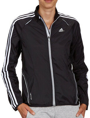 Adidas Response 3 Stripe Wind Ladies Running Jacket - Black