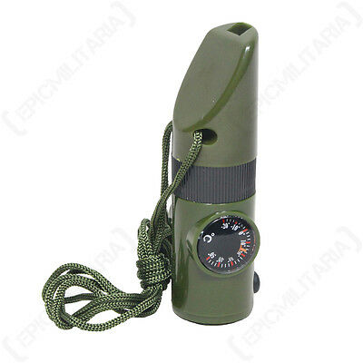 Emergency SIGNALLING DISTRESS WHISTLE Tactical Hiking Multi Tool - Colour Option