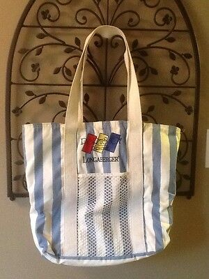 Longaberger 1995 Ports of Paradise Cruise / Beach / Tote Bag - Made in USA!