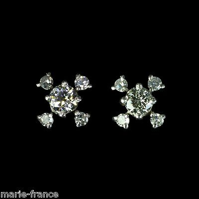 Stunning white gold estate earrings with 62 points diamonds - see set M-F