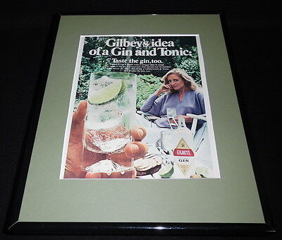 1981 Gilbey's Gin Framed 11x14 ORIGINAL Vintage Advertisement