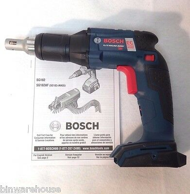 Bosch SGH182 NEW 18-Volt 4.0Ah Compact Brushless Drywall Screwgun - Bare-Tool