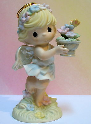 Precious Moments Angel W/ Flowers ~ Hope Blooms In A Garden Of Glory  Lmtd Ed