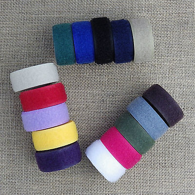 20mm SEW ON TAPE HOOK & LOOP - ASSORTED COLOURS / VELCRO® SEW ON WHITE
