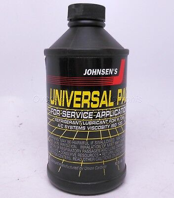 12oz Universal PAG 100 AC/Refrigerant Lubricant/Oil for R-134a Johnsen's #6816