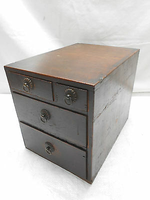 Antique Sugi Wood Calligraphy Box Japanese Drawers Circa 1880s #450