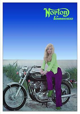 NORTON Poster 750 Commando Suitable to Frame 10 of 10