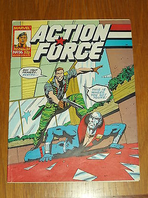 Action Force #36 7Th November 1987 Marvel British Weekly Comic