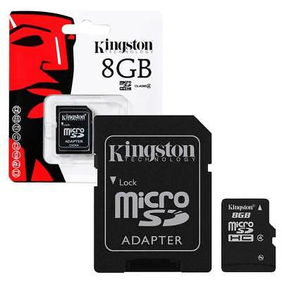 NEW 8GB Kingston Micro SD Micro SDHC Memory Card Class 4 with Adapter - 8GB