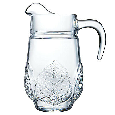 Luminarc Aspen 1.3 L Clear Glass Jug Serving Water Dinner Kitchen New
