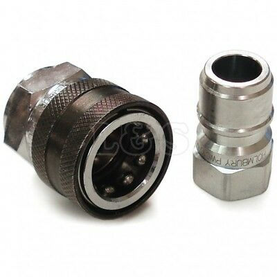 "Pressure Washer Quick Release Coupling Set - 3/8"" BSP Female/Female"