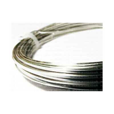 1 x Silver Plated Copper 1.25mm x 3m Round Craft Wire Coil W2125