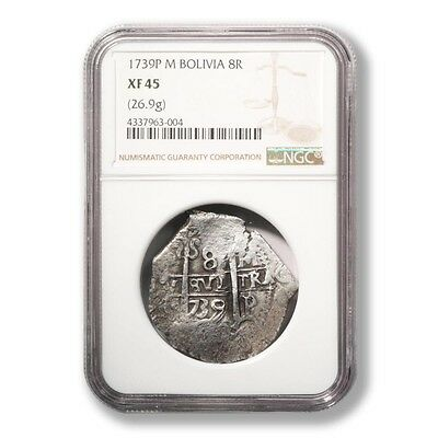 Bolivia 1755P Q. Potosi Mint 8 Reales graded by NGC