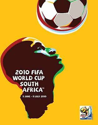Vintage Original WORLD CUP 2010 SOUTH AFRICA Official Full-Size Event POSTER