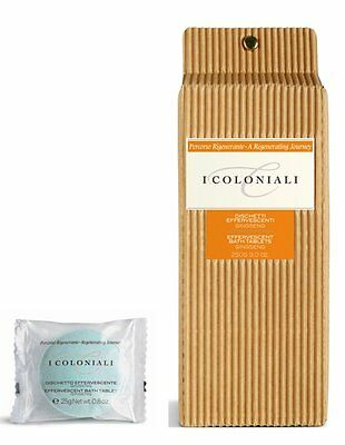 I Coloniali - 10 x Effervescent Bath Tablets with Ginseng - 250g - J&E Atkinsons
