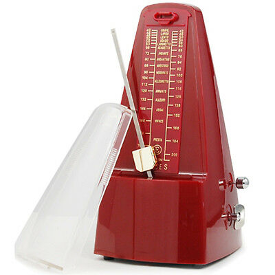 Elegant Red Pyramid Metronome Tempo for Musicians Piano Guitar