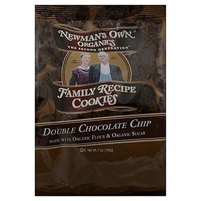 Newmans Own Organics Double Chocolate Chip Cookie, 8 Ounce -- 6 per case. 04/16
