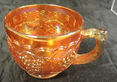 Rare Imperial Carnival Glass Cup - Grape Pattern