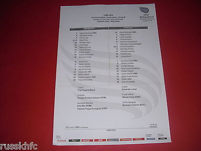2005 Uefa Womens Championship Germany V France Teamsheet