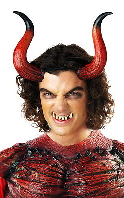 Evil Demon Devil Hellion Horns And Teeth Costume Accessory Adult Mens
