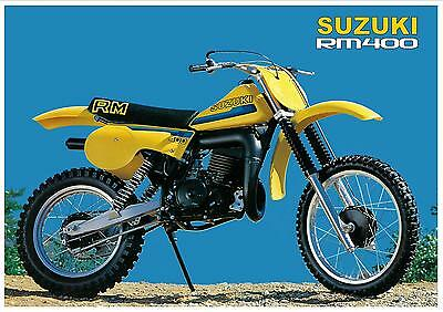 SUZUKI Poster RM400 RM400T 1980 VMX Suitable to Frame