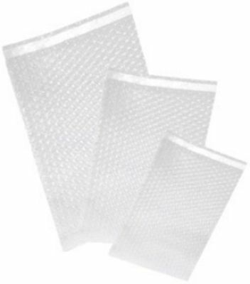 """200 Uneekmailers 4x5.5 Bubble Out Self Sealing Pouches Wrap Bags Clear 4""""x5"""""""