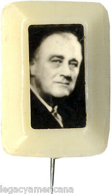 1932 Franklin Roosevelt Celluloid Photo Campaign Pin (5055)