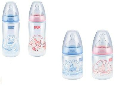 Nuk Rose/Blue First Choice Bottle