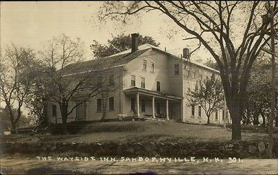 Sanbornville NH Wayside Inn c1915 Real Photo Postcard
