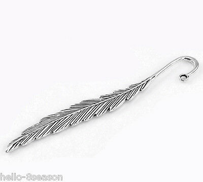 "5PCs HOT Silver Tone Feather Bookmarks 11.7cm(4 5/8"") long"