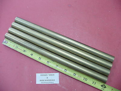 """4 Pieces 3/4"""" C360 BRASS SOLID ROUND ROD 12"""" long Lathe Bar Stock .75"""" OD H02"""