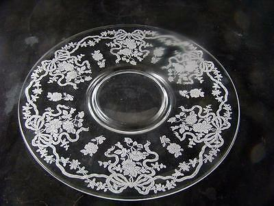 """Fostoria June 11"""" Plate Or Charger Crystal"""