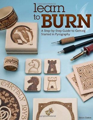 Learn to Burn Guide Book Getting Started Pyrography Woodburning 14 Projects NEW
