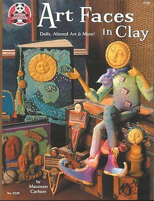 Art Faces in Clay Maureen Carlson Dolls Altered Art NEW PB Push Molds Polymer +