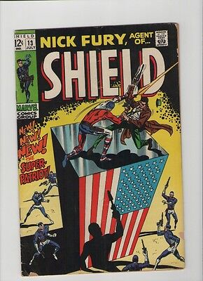 Nick Fury: Agent Of SHIELD #13 - 1st App Super-Patriot - 1969 (Grade 5.0) WH