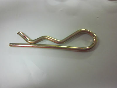 "~ 50 ~ 2"" X 3/32"" Hair R Hitch Pin Clip Spring Cotter Tractor Pins Gold Plate"
