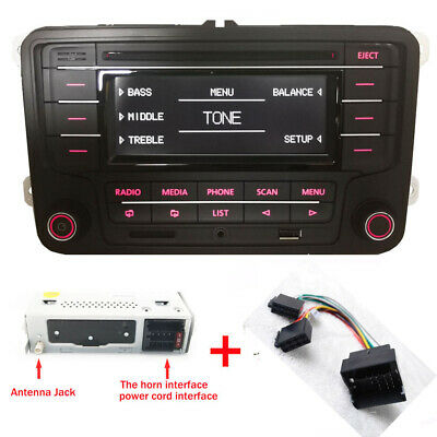 Autoradio RCN210+Kabel BLUETOOTH CD MP3 USB AUX SD VW GOLF 5  TOURAN JETTA  POLO