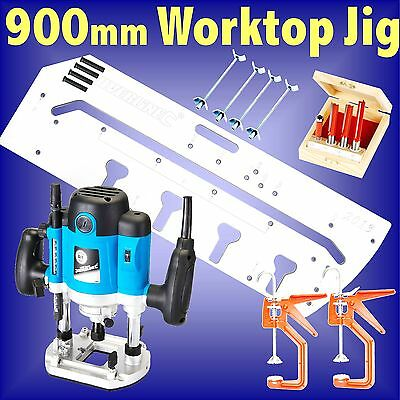 900mm Kitchen Worktop Jig 1500w Router cutter set bolts clamps template bedroom