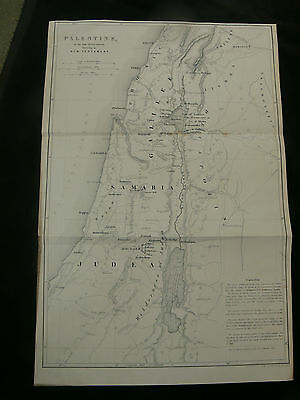 c.1850 Palestine & Jerusalem Pair of Engraved Maps by W. Hughes
