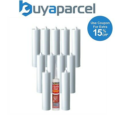 Everbuild Crystal Clear Sealant C3 Size Cartridge Pack of 12