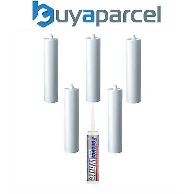 Everbuild Forever White Silicone C3 Size Cartridge Pack of 6